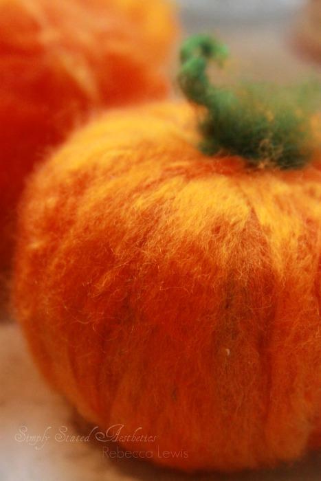 2010 felted pumpkin