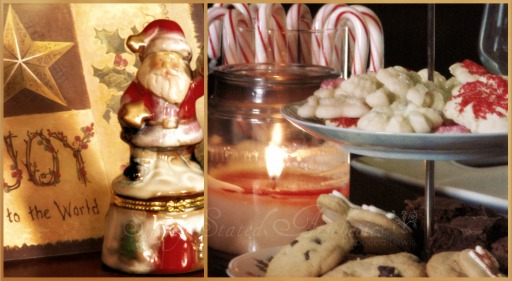 Cookies and santa joy to the world