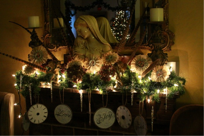 2010 HM ornaments on mantle signed
